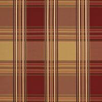 B0220d Red Gold Shiny Stripes Plaid Silk Look Upholstery Fabric