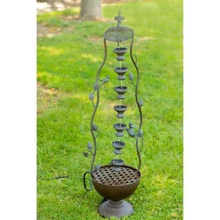 Hanging Cup Tier Layered Floor Fountain