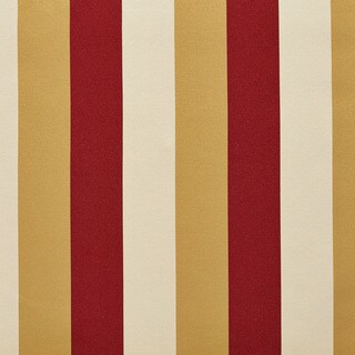 B0110a Gold Ivory Crimson Thick Striped Silk Look Upholstery Fabric