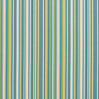 B0070c Teal, Green and White Smooth Thin Striped Upholstery Fabric