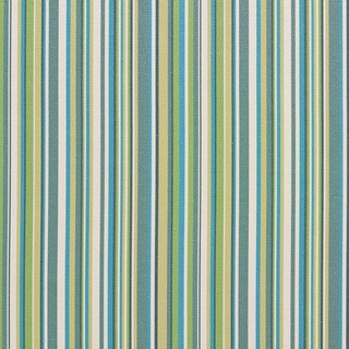 B0070c Teal, Green and White Smooth Thin Striped Upholstery Fabric (2 options available)