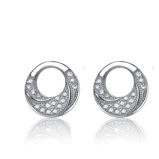Collette Z Sterling Silver Cubic Zirconia Round Earrings