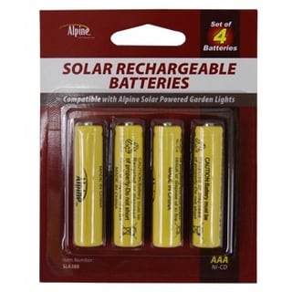 Solar Light AA Ni-CD Rechargable Batteries (10-pack