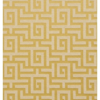 A0270e Gold Shiny Geometric Maze Silk Look Upholstery Fabric