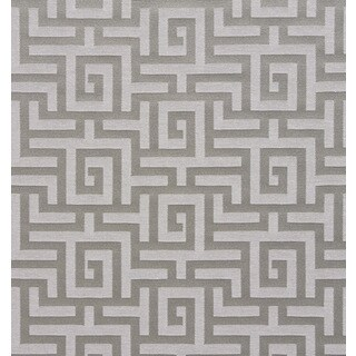 A0270d Silver Grey Shiny Geometric Maze Silk Look Upholstery Fabric