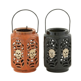 Ceramic Halloween Lantern (Set of 2)