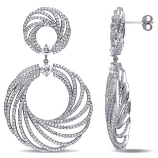 Miadora Signature Collection 18k White Gold 4 7/8ct TDW Diamond Earrings