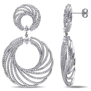 Miadora Signature Collection 18k White Gold 4 7/8ct TDW Diamond Earrings