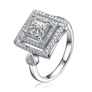 Collette Z Sterling Silver Cubic Zirconia Square Ring