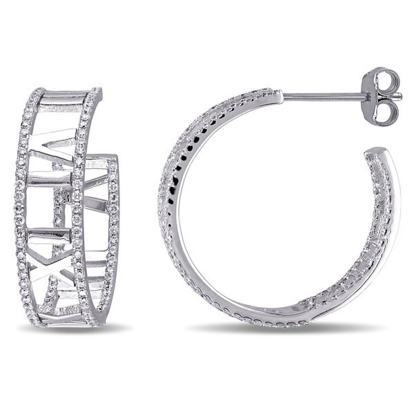 d087d4d26 Miadora Signature Collection 18k White Gold 1ct TDW Diamond Stud Earrings