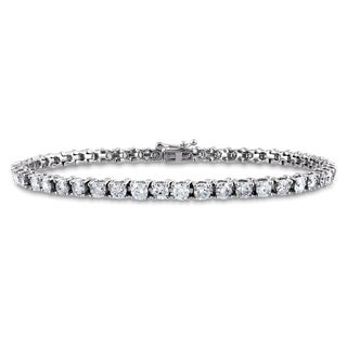Miadora Signature Collection 14k White Gold 5ct TDW Diamond Tennis Bracelet