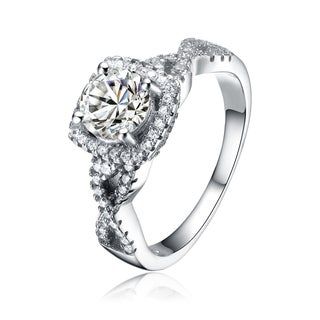 Collette Z Sterling Silver Cubic Zirconia Fancy Square Ring