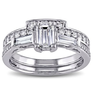 Miadora 14k White Gold 1ct TDW Diamond Bridal Ring Set