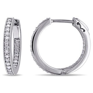 Miadora 10k White Gold 1/2ct TDW Diamond Earrings