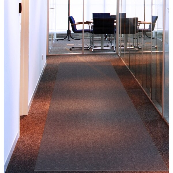 Floortex Long Strong Hallway Runner | Clear PVC Carpet Protector Roll Mat | for