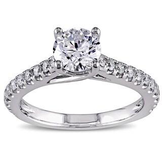 Miadora Signature Collection 14k White Gold 1 1/2ct TDW Diamond Engagement Ring