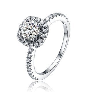 Collette Z Sterling Silver Cubic Zirconia Fancy Ring