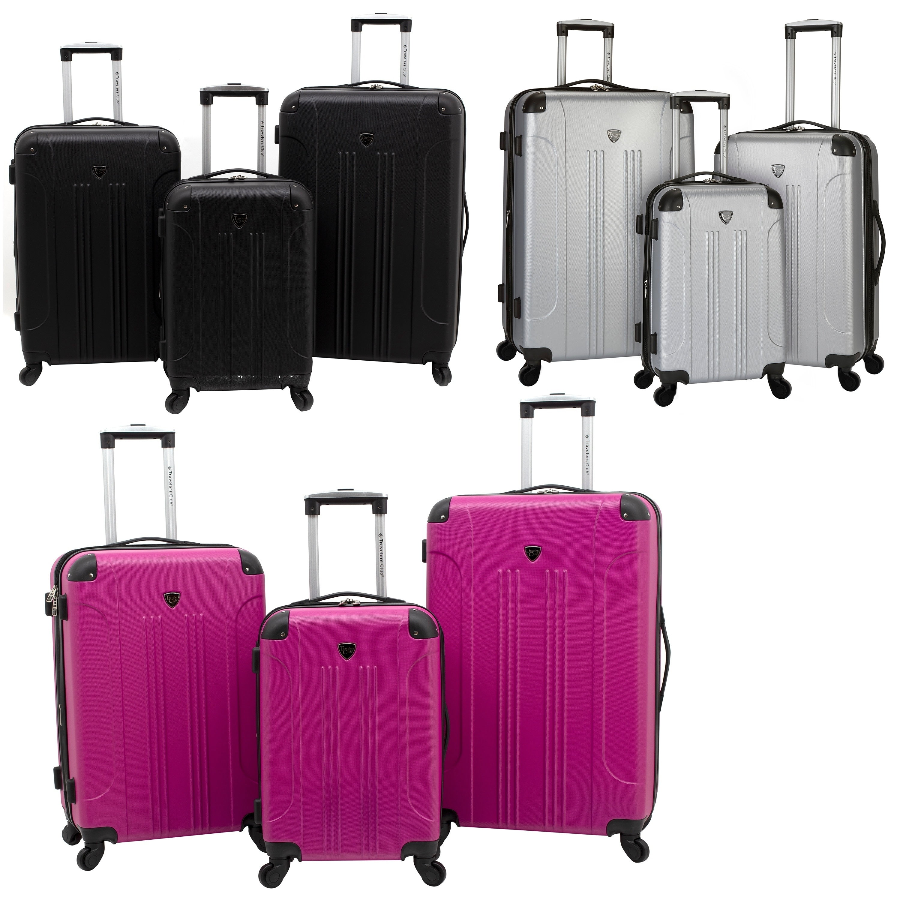 top-rated genuine great variety models cheapest price Travelers Club Chicago Collection 3-Piece Expandable Hardside Luggage Set