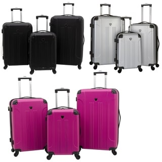 Link to Travelers Club Chicago Collection 3-Piece Expandable Hardside Luggage Set Similar Items in Luggage Sets