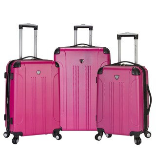 Travelers Club Chicago Collection 3-Piece Expandable Hardside Luggage Set (2 options available)