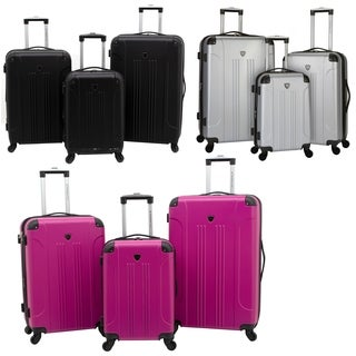 Travelers Club Chicago Collection 3-Piece Expandable Hardside Luggage Set