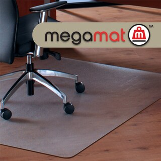 "Cleartex MegaMat Heavy Duty Chair Mat for Hard Floors or Carpets Size 35"" x 47"""