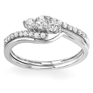 14k White Gold 2/5ct TDW Round Diamond Bridal Ring Set (H-I, I1-I2)