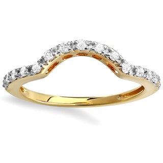 Elora 14k Yellow Gold 1/3ct TDW Round Diamond Anniversary Wedding Band (H-I, I1-I2)