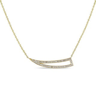 Miadora 14k Yellow Gold and 1/4ct TDW Diamond Necklace (G-H, SI2-SI3)