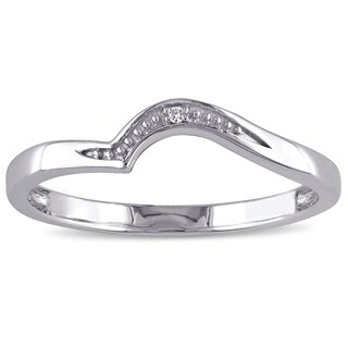 Miadora 10k White Gold Diamond Accent wedding band (3 options available)