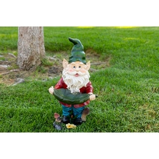 Decorative Outdoor Gnome Bird Feeder