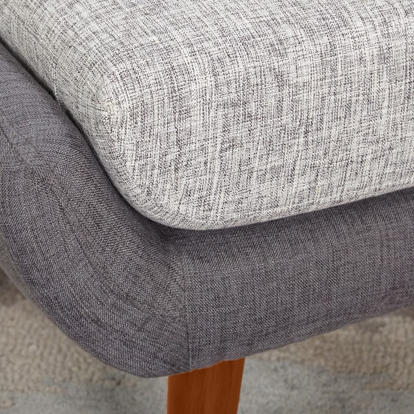Simple Living Elijah Mid Century Gray Chair and Ottoman Set - Free Shipping  Today - Overstock.com - 17425897 - Simple Living Elijah Mid Century Gray Chair And Ottoman Set - Free