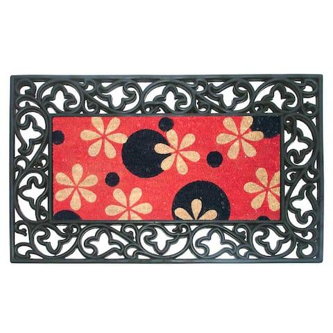 Phlox Dots Rubber & Coir Dirtbuster Doormat