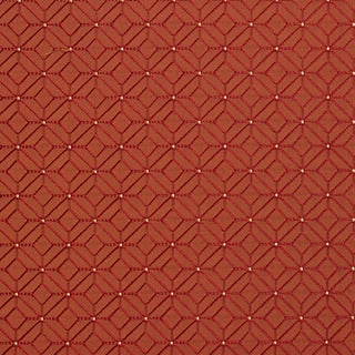 A0210c Red and Orange Geometric Small Diamonds Upholstery Fabric