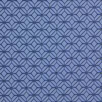 A0210a Blue and Light Blue Geometric Diamonds Upholstery Fabric