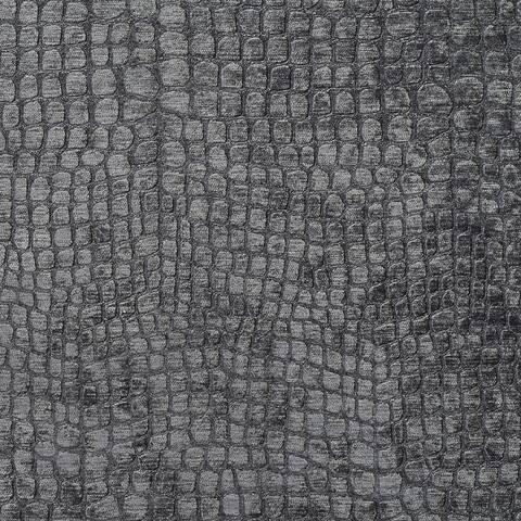A0151u Grey Textured Alligator Shiny Woven Velvet Upholstery Fabric