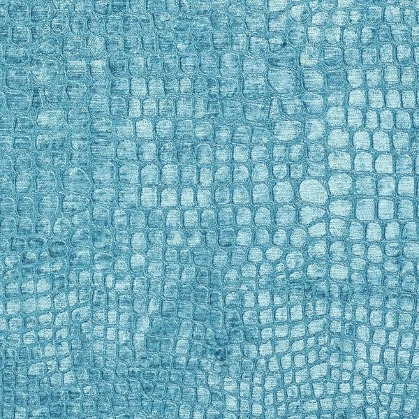 Shop A0151m Aqua Turquoise Alligator Woven Velvet Upholstery Fabric