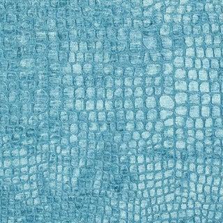 A0151m Aqua Turquoise Alligator Woven Velvet Upholstery Fabric