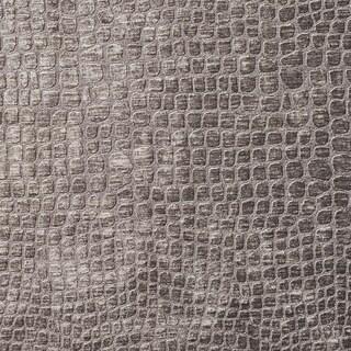 A0151j Grey Textured Alligator Shiny Woven Velvet Upholstery Fabric - Silver/Grey