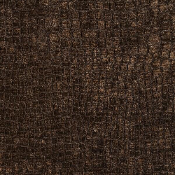 Shop A0151f Brown Textured Alligator Shiny Woven Velvet Upholstery