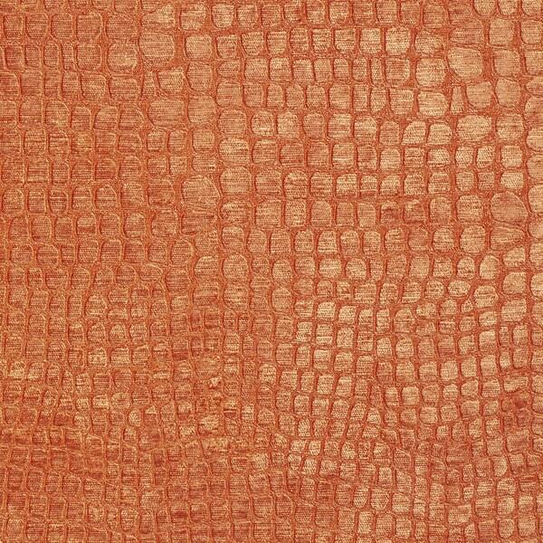 Shop A0151d Orange Textured Alligator Woven Velvet Upholstery Fabric