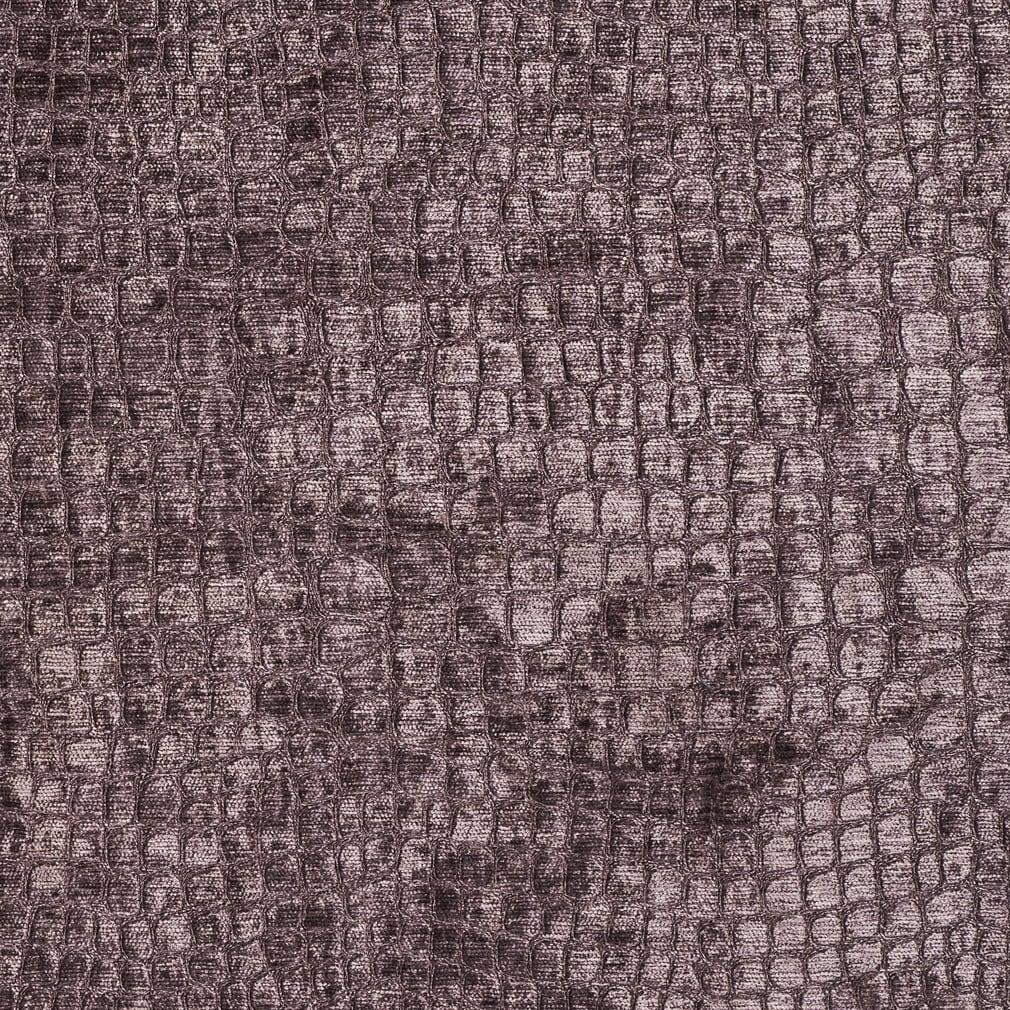 A0151c Dark Purple Alligator Shiny Woven Velvet Upholstery Fabric Ebay