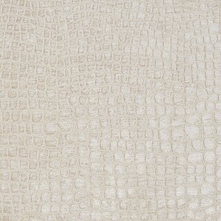 A0151b Cream Textured Alligator Shiny Woven Velvet Upholstery Fabric (2 options available)