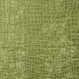 A0151a Green Textured Alligator Shiny Woven Velvet Upholstery Fabric
