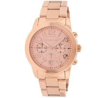 Micheal Kors Mercer Rose Gold-Tone Chronograph Women's Watch MK5727