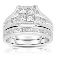 Eloquence 10k White Gold 2ct TDW Diamond Composite Bridal Set (J-K, I2-I3)