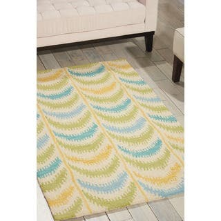 Shop Hand Tufted Meadow Ivory Green Wool Rug 3 6 X 5 6