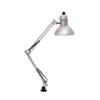 Lite Source Swing Arm Fluorescent Clamp-on Lamp, Silver