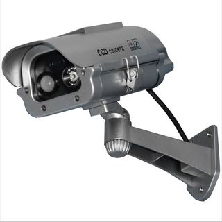 7-inch IR Dummy Camera with Solar Powered Motion Strobe Light