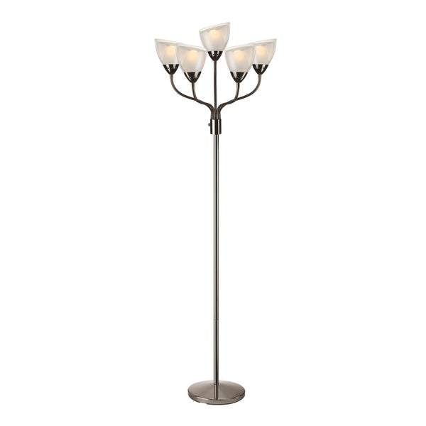 Lite Source Elitia Fluorescent Floor Lamp, Gun Metal